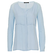 Buy Betty Barclay Collarless Blouse, Cashmere Blue Online at johnlewis.com