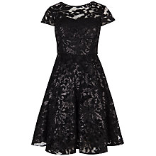 Buy Ted Baker Mahima Sequin Floral Lace Dress, Black Online at johnlewis.com