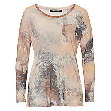 Buy Betty Barclay Long Sleeve Printed T-Shirt, White/Apricot Online at johnlewis.com