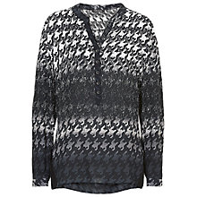 Buy Betty Barclay Long Graphic Blouse, Black/Cream Online at johnlewis.com