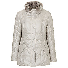 Buy Betty Barclay Padded Outdoor Jacket, Light Silver Online at johnlewis.com