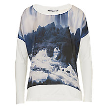 Buy Betty Barclay Long Embellishment Top, Dark Blue/White Online at johnlewis.com