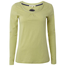 Buy White Stuff Fawn Jersey Top, Green Online at johnlewis.com