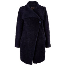 Buy Phase Eight Karan Raschel Knit Coat, Navy Online at johnlewis.com
