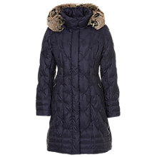 Buy Betty Barclay Duffel Coat With Detachable Hood, Night Blue Online at johnlewis.com