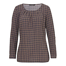 Buy Betty Barclay Printed Blouse, Taupe/Dark Blue Online at johnlewis.com