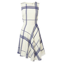 Buy Karen Millen Draped Check Dress, White/Multi Online at johnlewis.com