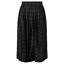 Buy Somerset by Alice Temperley Textured Check Skirt, Black Online at johnlewis.com
