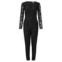 Buy Somerset by Alice Temperley Lace Jumpsuit, Black Online at johnlewis.com
