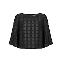 Buy Somerset by Alice Temperley Textured Check Top, Black Online at johnlewis.com