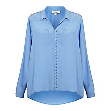 Buy Somerset by Alice Temperley High Low Blouse, Blue Online at johnlewis.com
