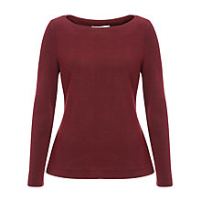 Buy John Lewis Stella Jacquard Top, Red/Black Online at johnlewis.com