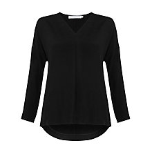 Buy John Lewis Capsule Collection Katy V Neck Top, Black Online at johnlewis.com