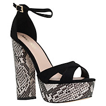 Buy Miss KG Fizz Platform Block Heeled Sandals, Black Online at johnlewis.com