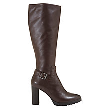 Buy Mint Velvet Harriet Long Knee High Boots, Chocolate Leather Online at johnlewis.com