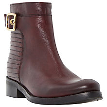 Buy Dune Padston Leather Buckle Trim Ankle Boot Online at johnlewis.com