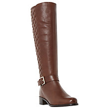 Buy Dune Torin Leather Quilted Knee High Boots Online at johnlewis.com