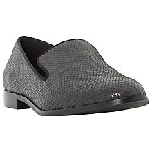 Buy Dune Gray Leather Loafers Online at johnlewis.com
