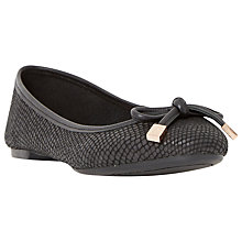 Buy Dune Hero Leather Ballerina Pumps, Black Online at johnlewis.com
