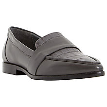 Buy Dune Granita Leather Pointed Slip On Loafers Online at johnlewis.com