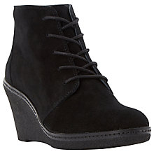 Buy Dune Pip Suede Mid Wedge Heel Ankle Boots Online at johnlewis.com