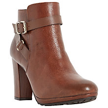 Buy Dune Puggy Block Heeled Ankle Boots Online at johnlewis.com