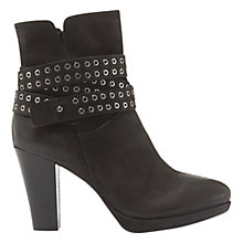 Buy Mint Velvet Bernie Block Heeled Ankle Boots, Black Nubuck Online at johnlewis.com