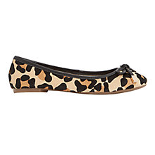 Buy Dune Hero Leather Ballet Pumps Online at johnlewis.com