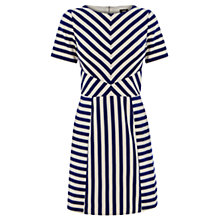 Buy Oasis Chloe Stripe Satin Dress, Multi/Blue Online at johnlewis.com