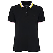 Buy French Connection Popcorn Pique Polo T-Shirt, Black Online at johnlewis.com