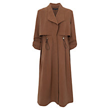 Buy French Connection Runaway Drape Coat, Carnaby Tan Online at johnlewis.com