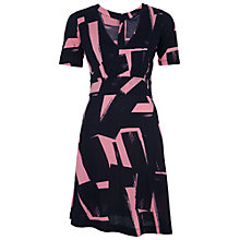 Buy French Connection Brushstrokes Dress, Nocturnal/Blush Online at johnlewis.com