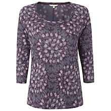 Buy White Stuff Jessie Linen T-Shirt, Midnight Mauve Online at johnlewis.com
