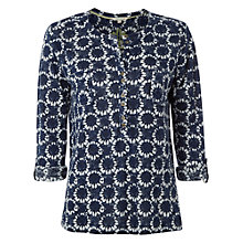 Buy White Stuff Divide Out Linen Jersey Tunic Top, Navy Online at johnlewis.com