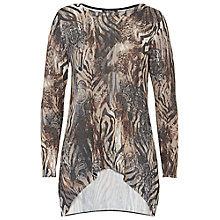 Buy Betty Barclay Dropped Hem Printed Top, Multi Online at johnlewis.com