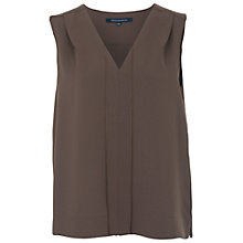 Buy French Connection Diamond Sleeveless Crepe Top, Turtle Online at johnlewis.com