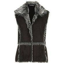 Buy Betty Barclay Faux Shearling Gilet, Black Online at johnlewis.com
