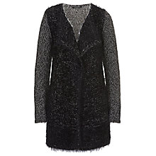 Buy Betty Barclay Hairy Knit Cardigan, Grey/Black Online at johnlewis.com