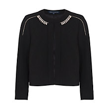 Buy French Connection Sundae Suiting Embellished Jacket, Black Online at johnlewis.com