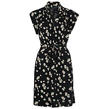 Buy French Connection Tropicana Tie Waist Dress, Black Multi Online at johnlewis.com