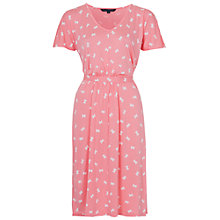 Buy French Connection Snow Bow Flared Dress, Blush Online at johnlewis.com