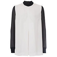 Buy French Connection Lou Lou Shirt. Black/Winter White Online at johnlewis.com