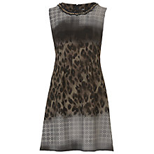 Buy Betty Barclay Printed Crepe Dress, Black.Camel Online at johnlewis.com