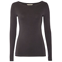 Buy White Stuff Spear Soft Jersey Top, Black Online at johnlewis.com