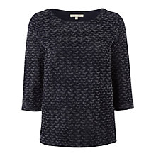 Buy White Stuff Sky Walk Top, Navy Online at johnlewis.com