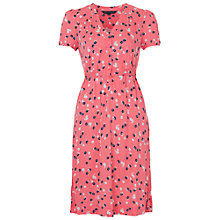 Buy French Connection Mini Belle Jersey Button Front Dress, Party Pink Online at johnlewis.com