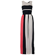 Buy French Connection Medina Maxi Dress, Noctural/Pretty Pink/Summer White Online at johnlewis.com