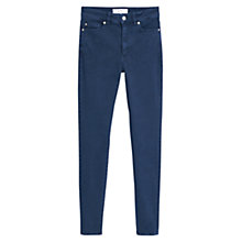 Buy Mango High Waist Noa Jeans, Open Blue Online at johnlewis.com
