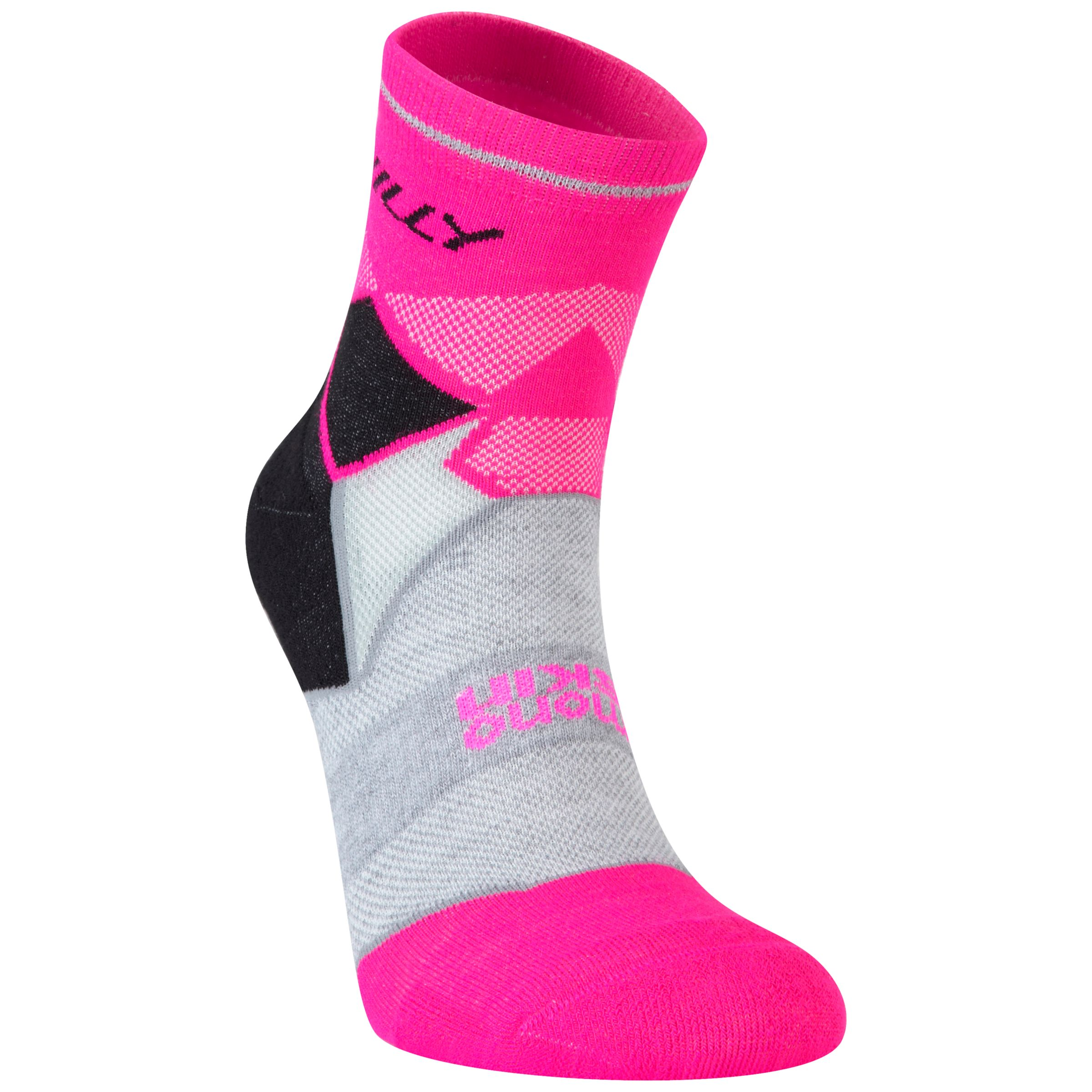 Hilly Hilly Photon Anklet Women's Running Socks, Pink