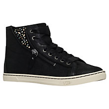 Buy UGG Blaney Flat High Top Trainers, Black Leather Online at johnlewis.com
